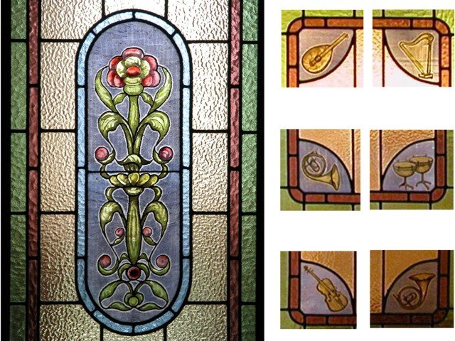 Details from Stained glass doors