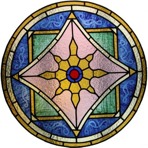 A circular Stained glass window