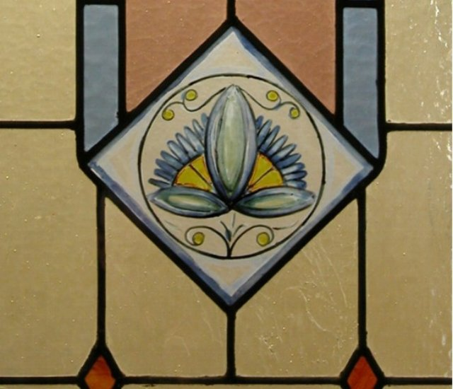 Detail from a Stained glass window